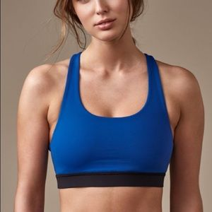 Lululemon Invigorate Bra jet stream black blue 6